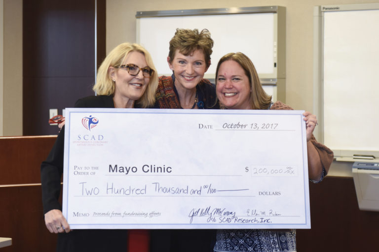 SCAD Research Mayo Clinic Donation