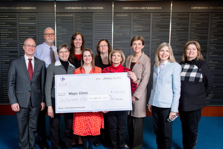 Ceremonial Check aPresented to Mayo Clinic SCAD Research Program