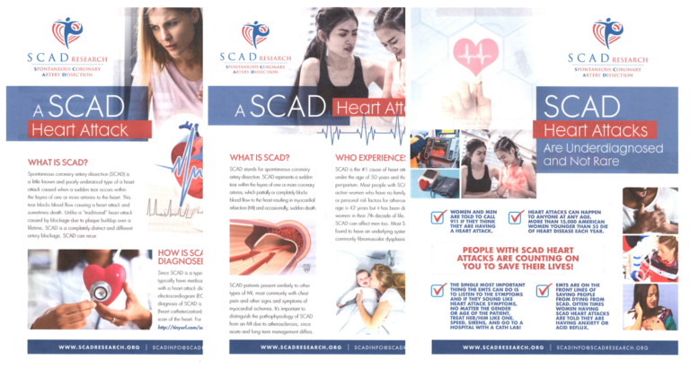 SCAD Awareness Brochures